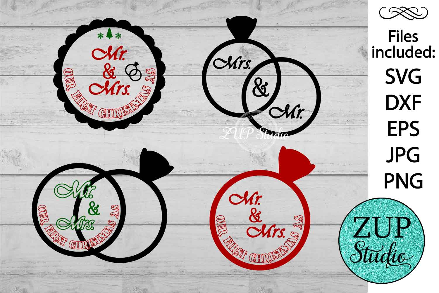 Mr and Mrs text cutting files svg 16 example image 1