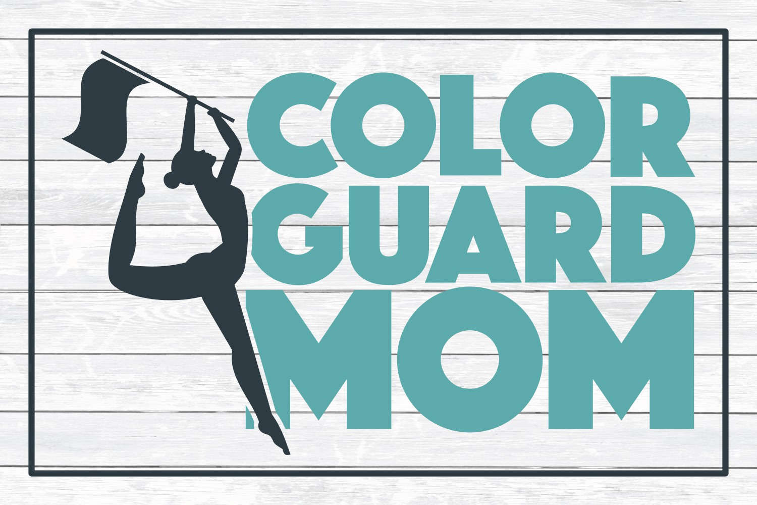 Color Guard Mom and Color Guard Dad SVG Cut Files example image 3