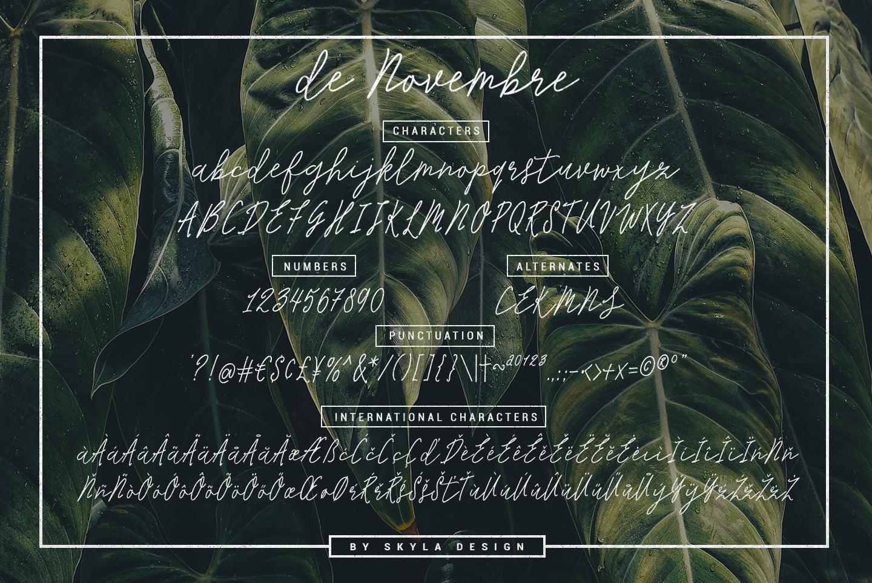 Monoline Signature script - de Novembre example image 6