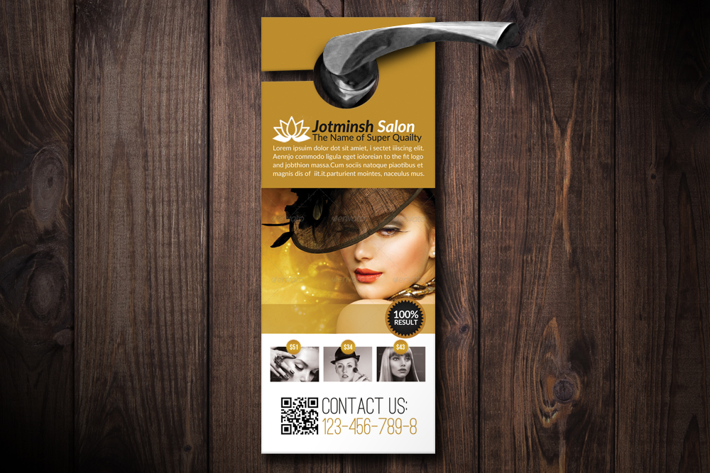Beauty Salon Door Hangers example image 1