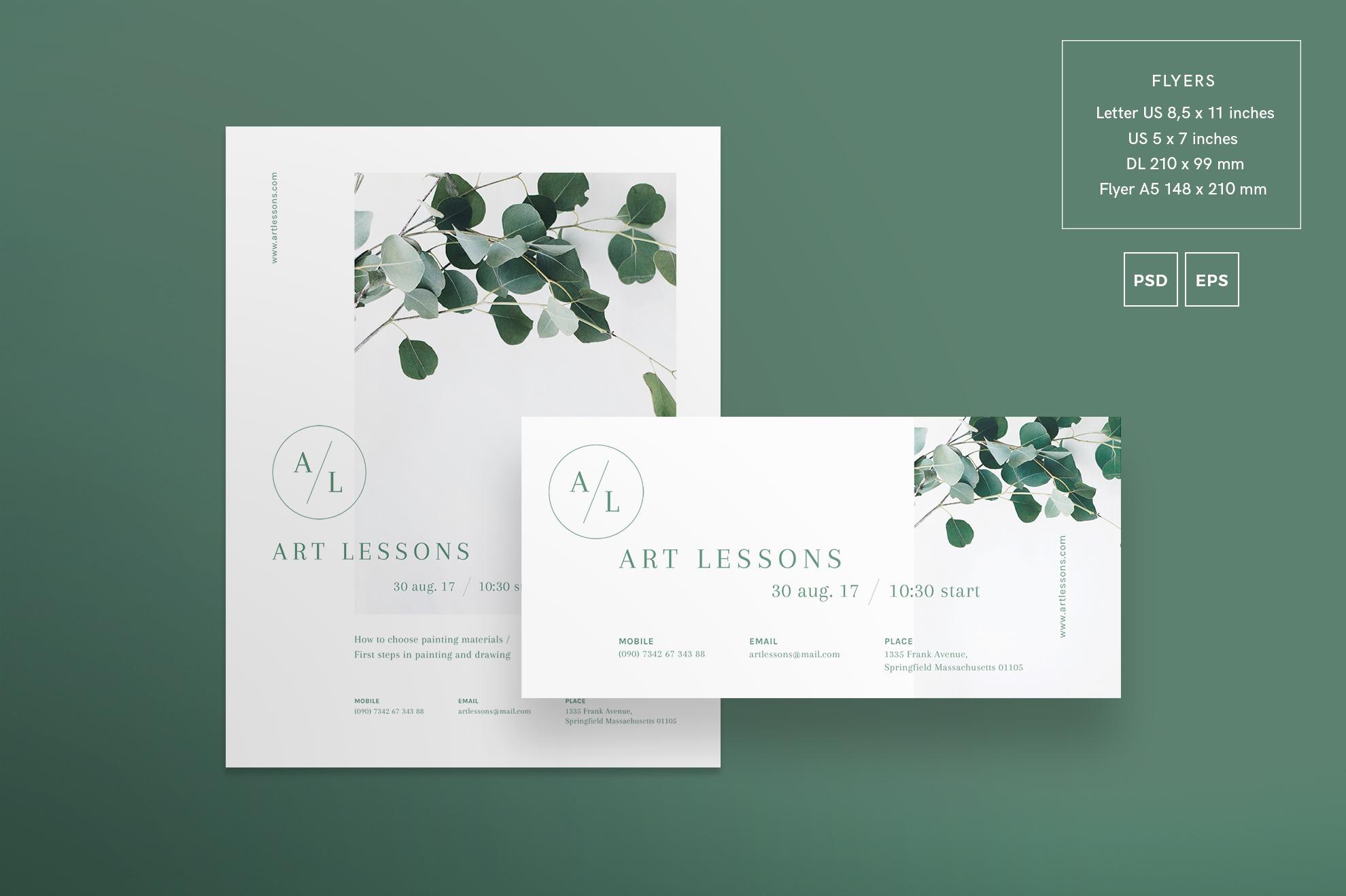 Art Lessons Masterclass Workshop Design Templates Bundle example image 8