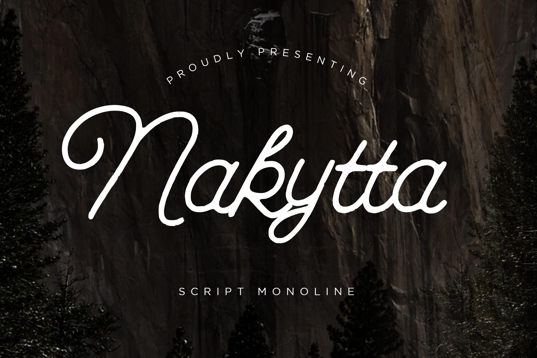 Nakytta Monoline Script example image 1