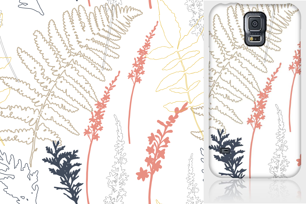 Autumn florals seamless pattern example image 3