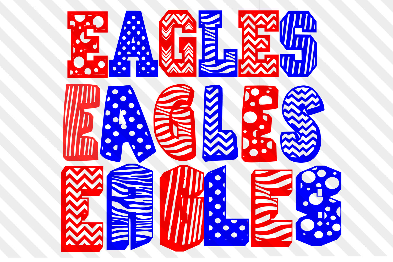 Polka dot,font,eagles,SVG,cricut,Vector,Clip art,sport,Dxf example image 1
