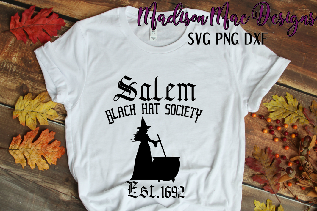 Witch SVG, Black Hat Society, Halloween Digital Cut File example image 4
