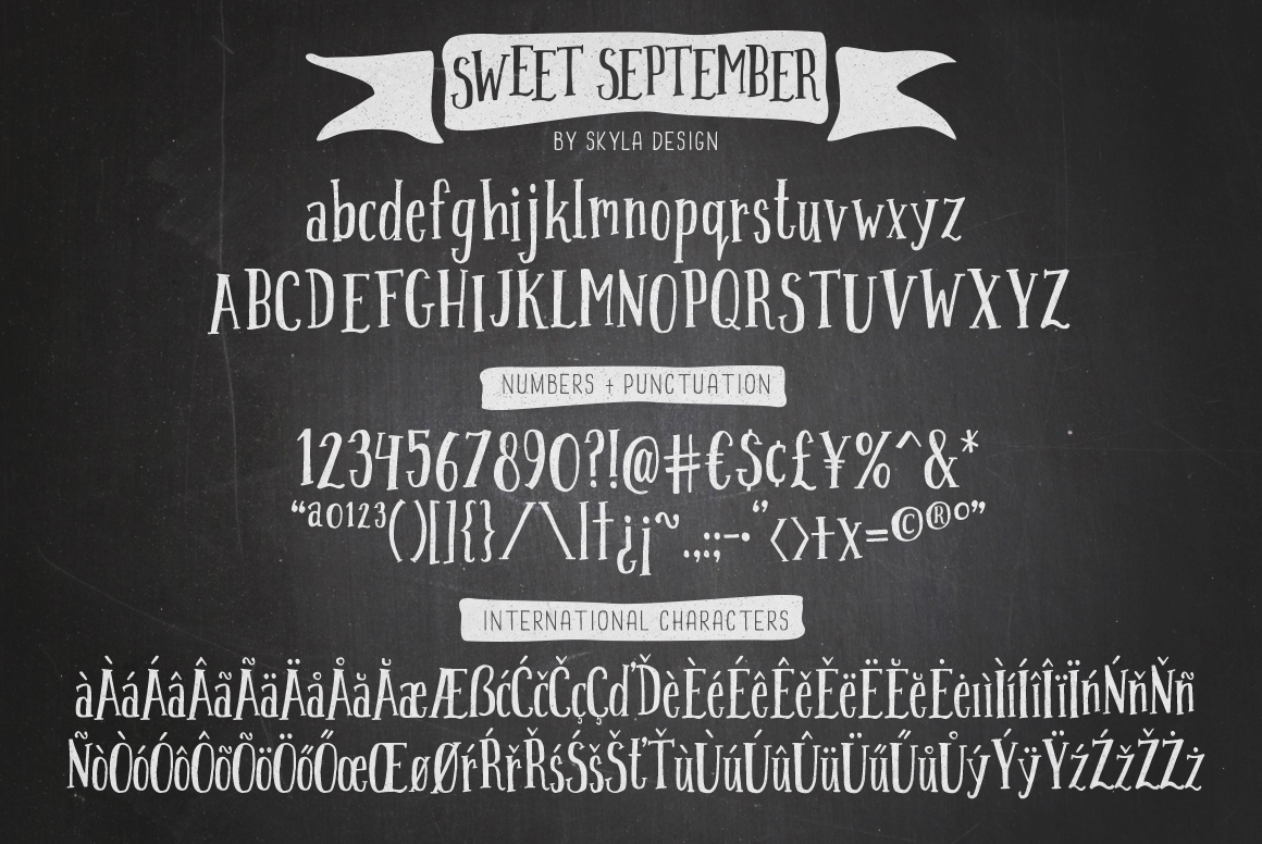 Handwritten font - Sweet September example image 4