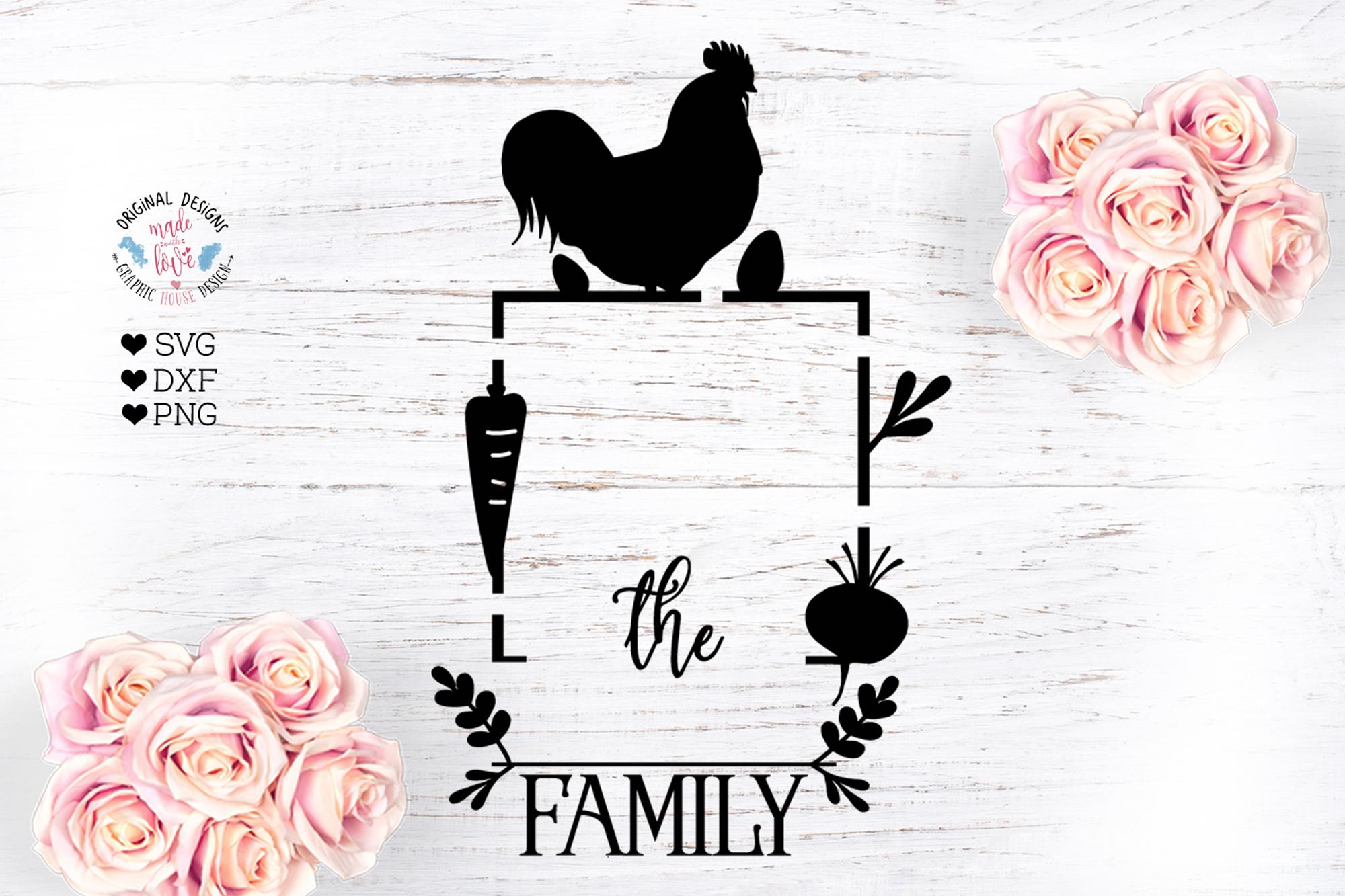 Farmhouse Family Name Frame Cut File example image 1