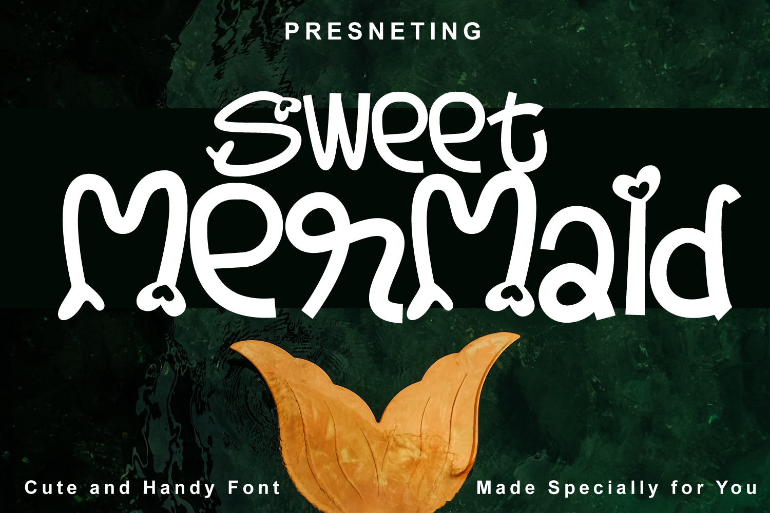Sweet Mermaid - Handcrafted Cute & Fun Font example image 1