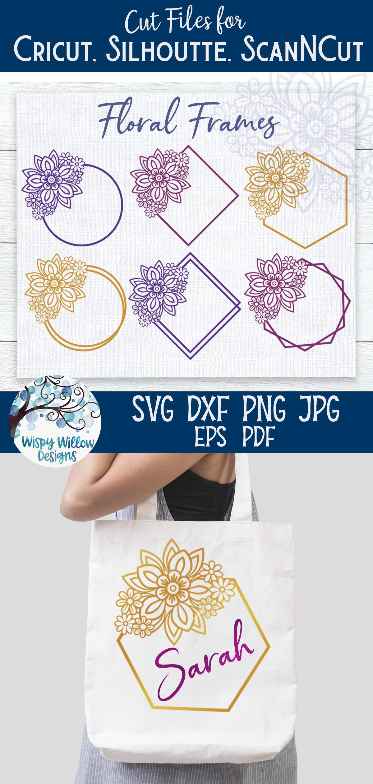 Floral Frames SVG Bundle   Monogram Frame SVG Bundle example image 4