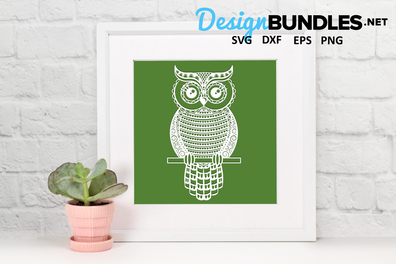 Owl paper cut design example image 5
