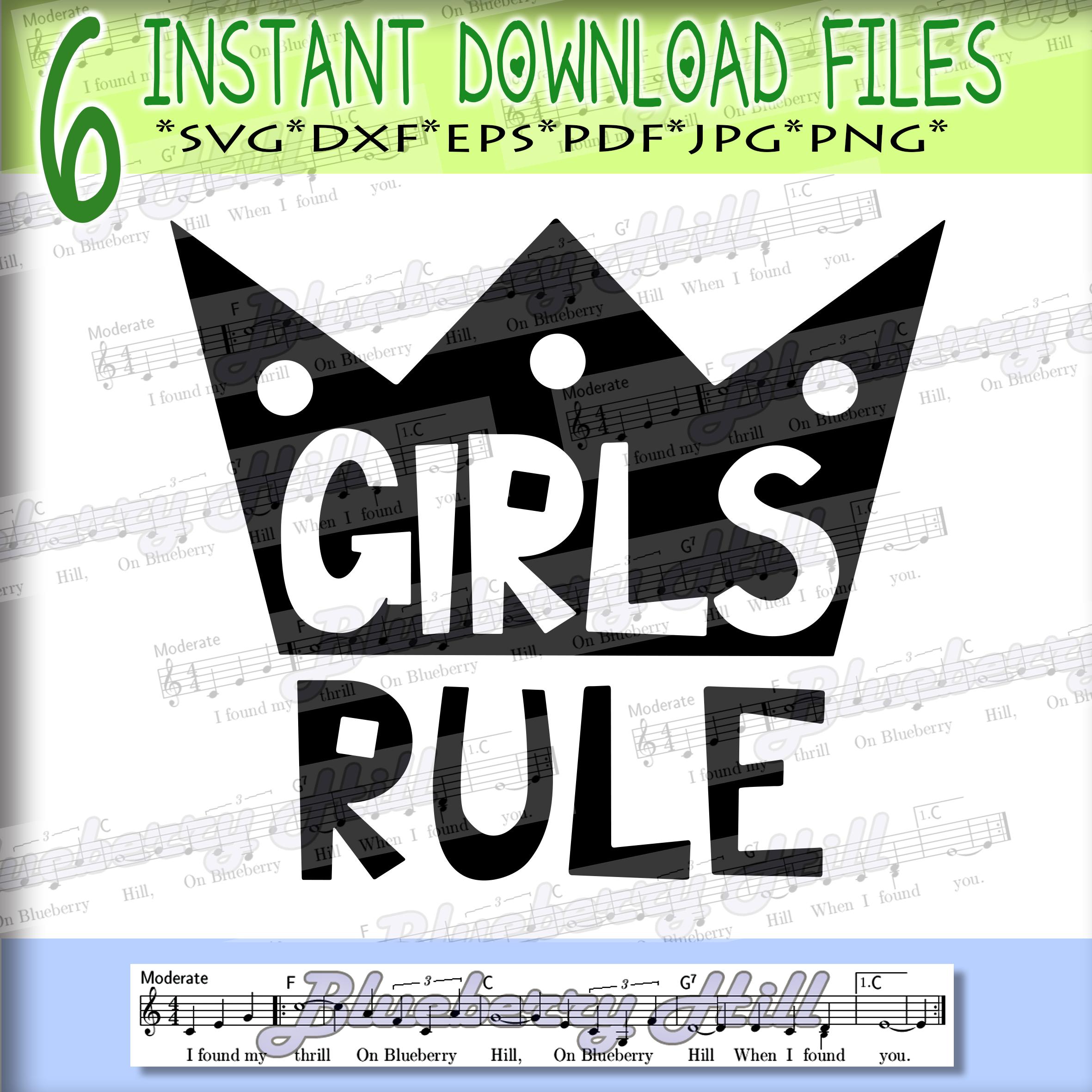 Girls rule Svg - Boys rule Svg -Digital Files - Svg digital example image 2