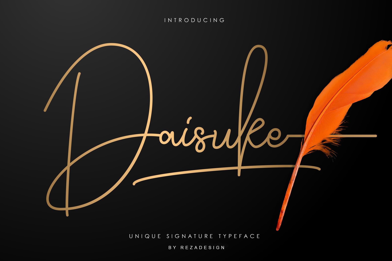 Daisuke - Signature Font example image 1