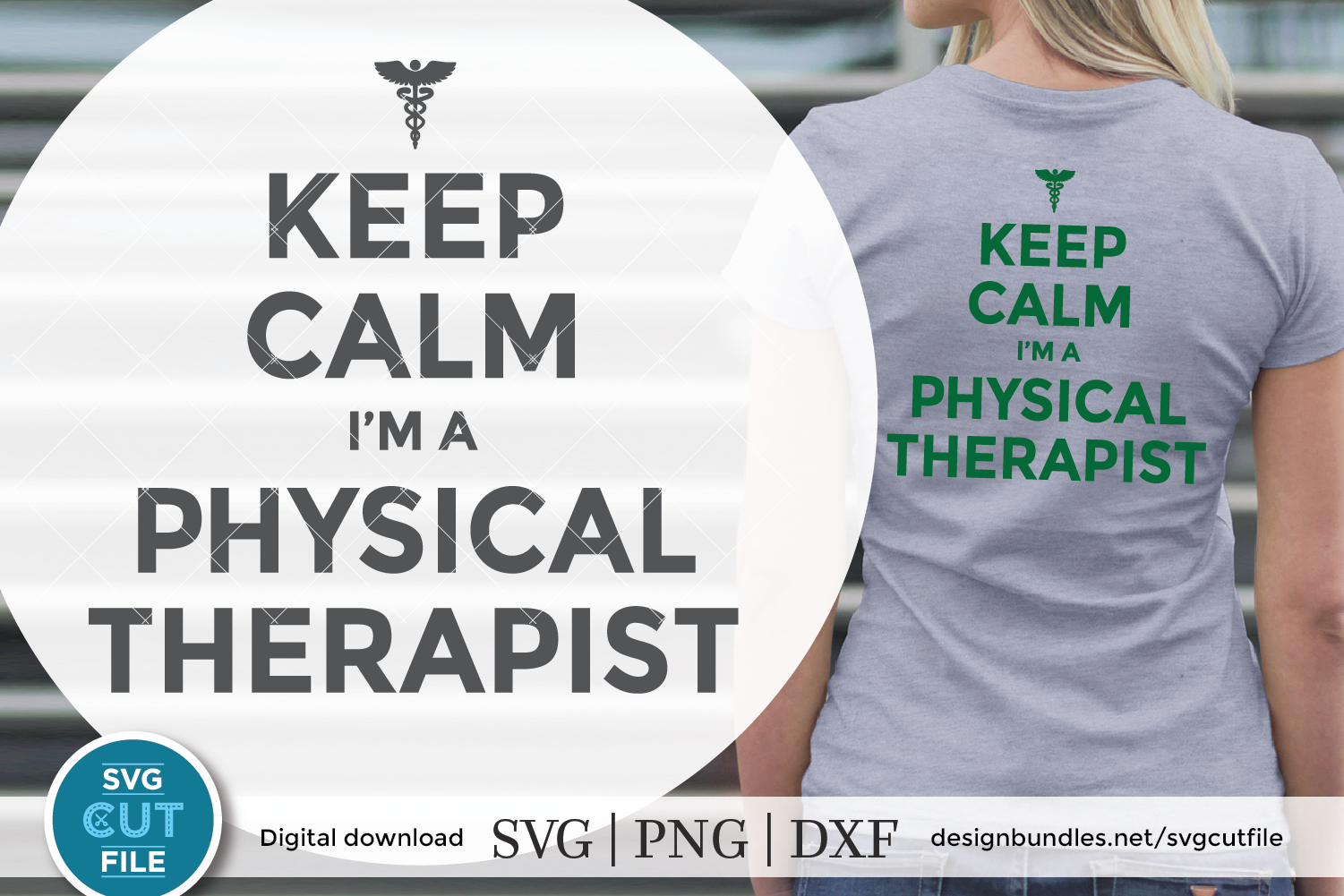 Physical therapist svg, physical therapy svg, keep calm svg example image 1