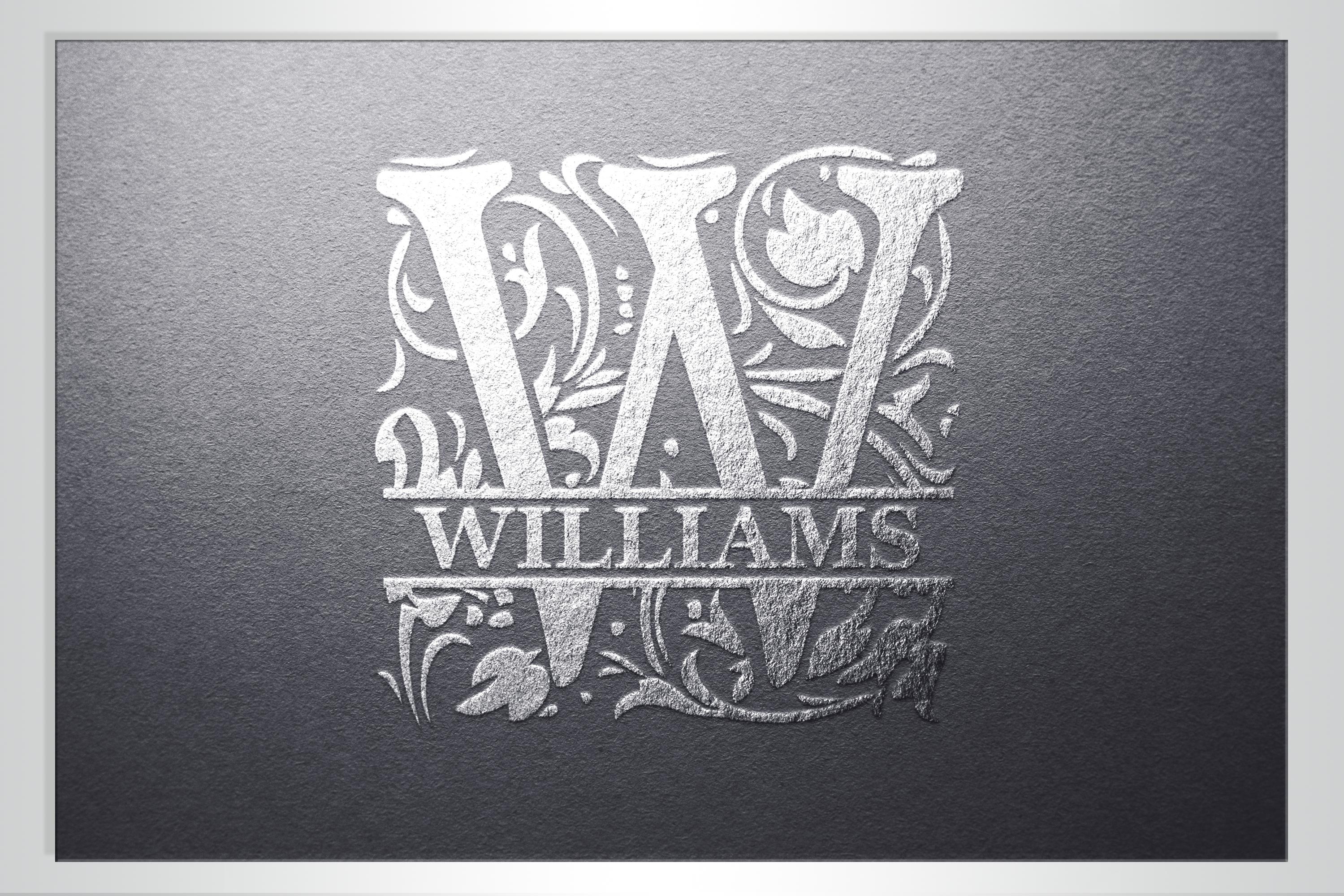 26 Wedding split monogram Wedding font SVG Engagement svg example image 4