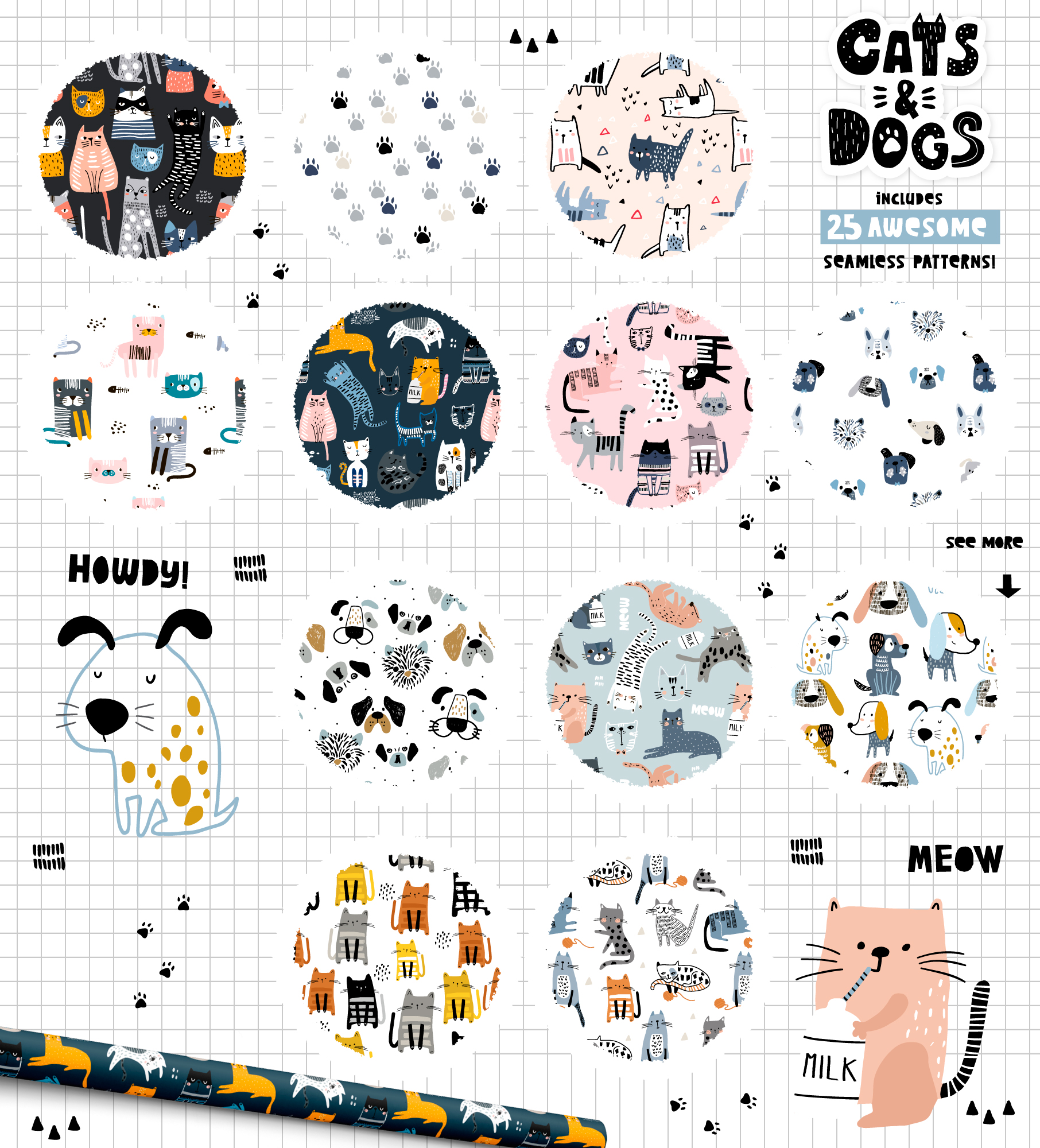 Cats&Dogs graphic collection example image 3