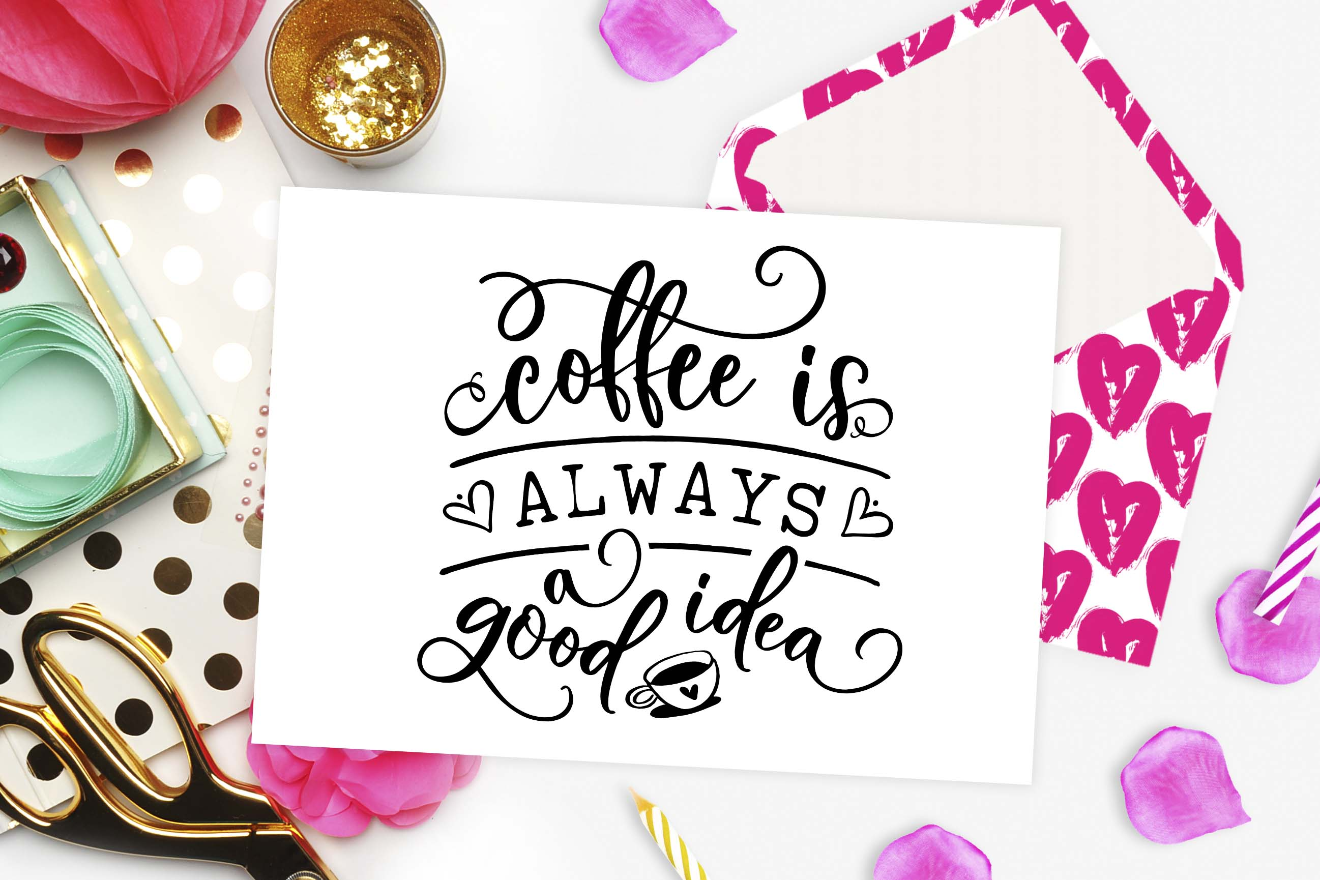 Coffee is always a good idea SVG DXF PNG EPS example image 3