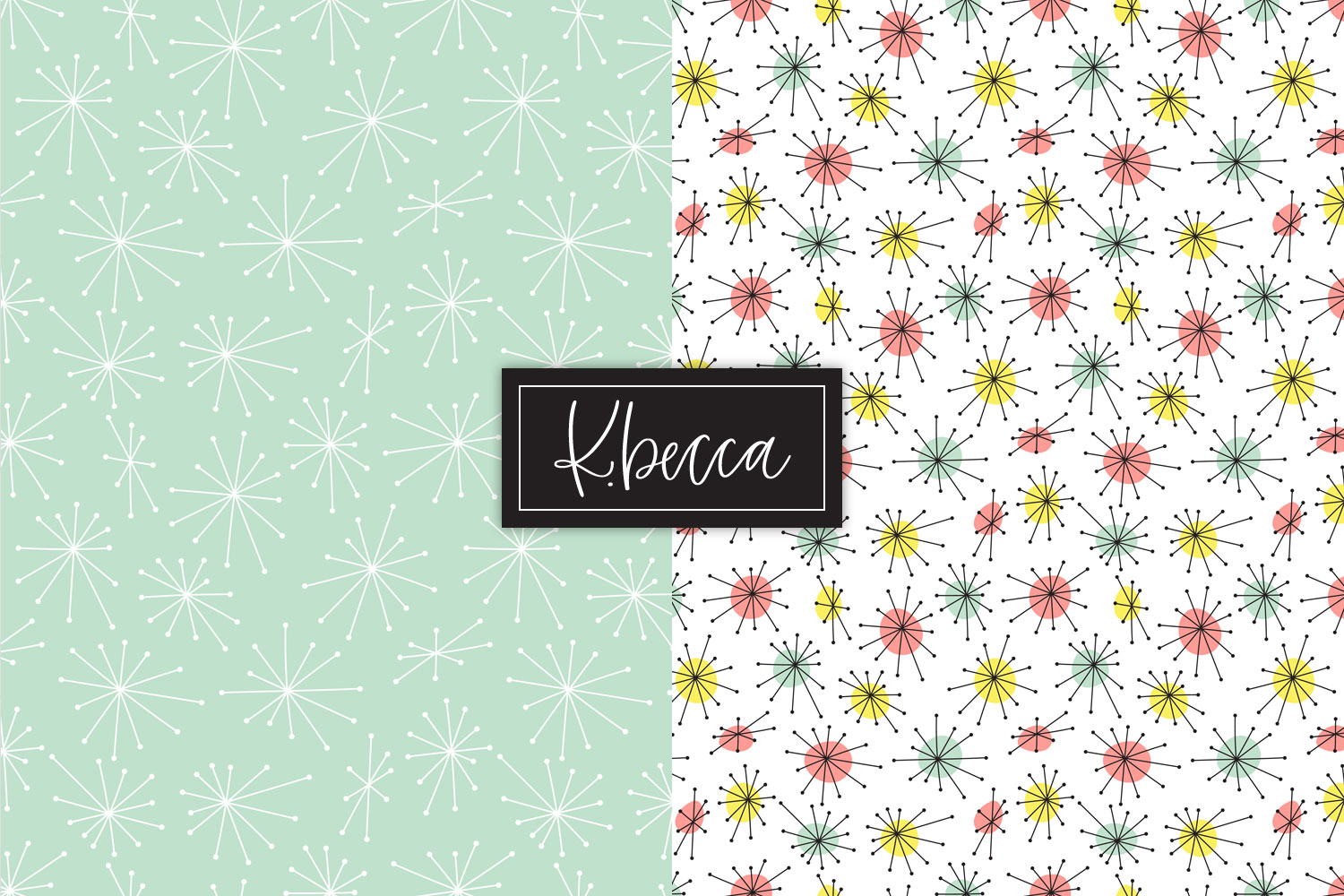 Retro 1950s Background Patterns Seamless example image 6