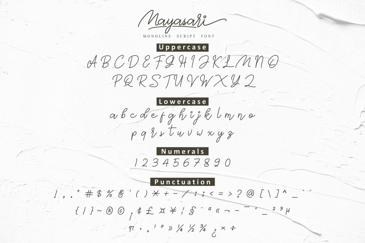 Mayasari Monoline Script example image 9