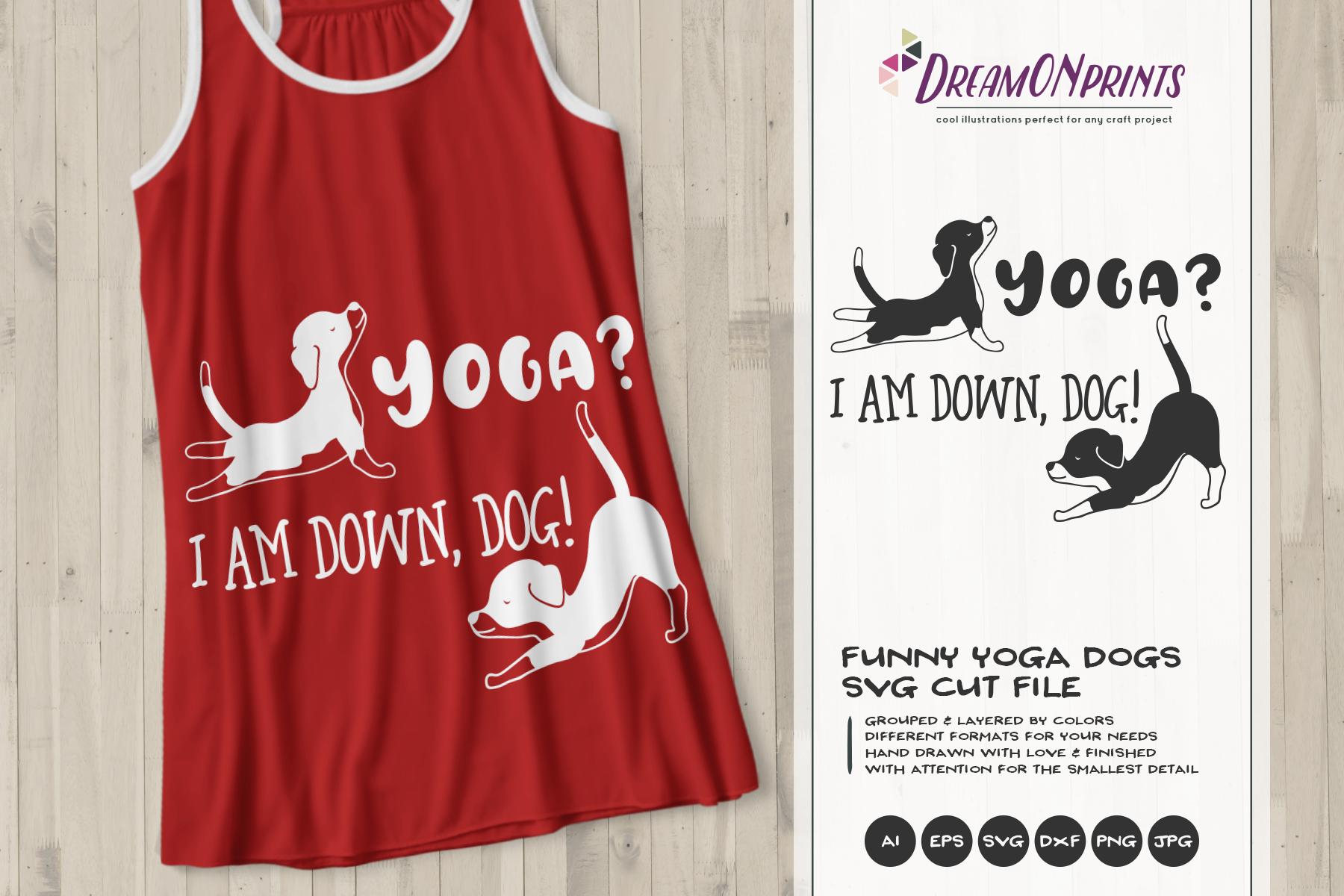 Yoga Dog SVG | Dog Yoga Poses | Pet Illustration example image 1
