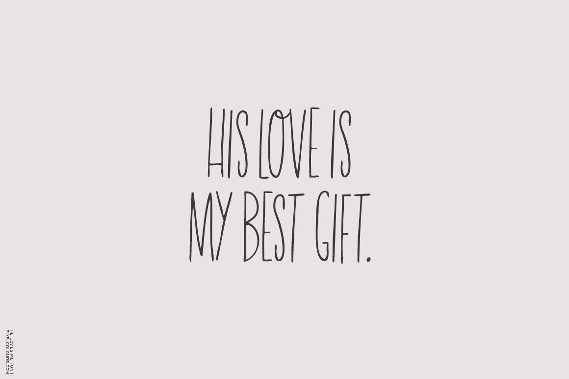 He Loves Me Skinny Font example image 3