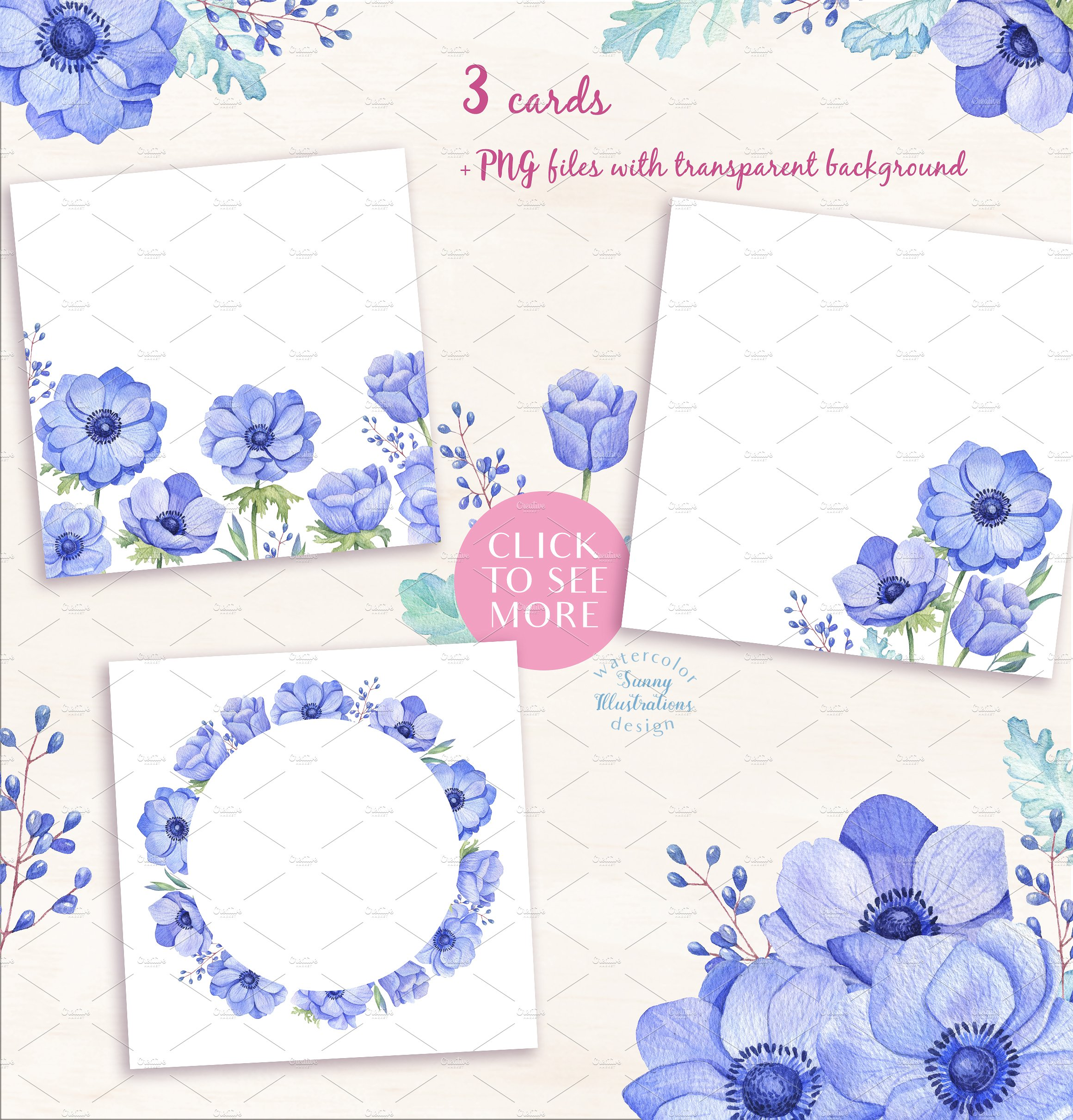 -40% OFF - Blue Anemones example image 5