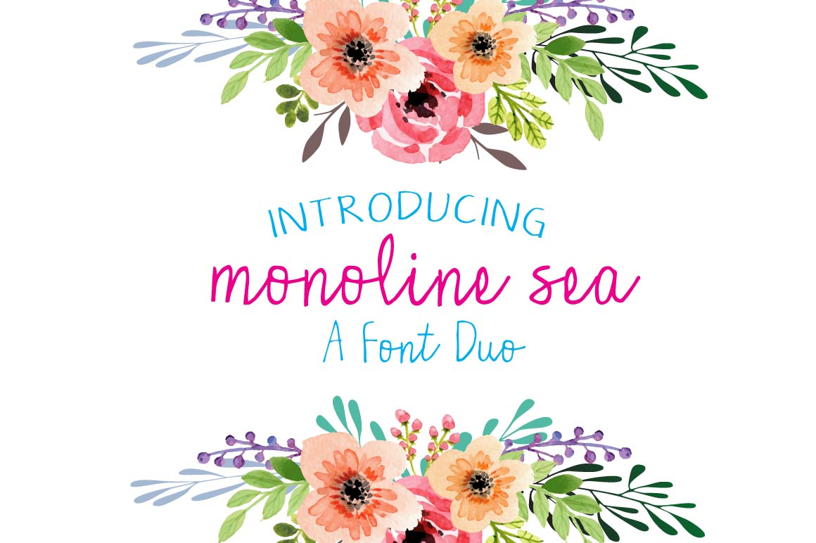 Monoline Sea - A font Duo example image 1