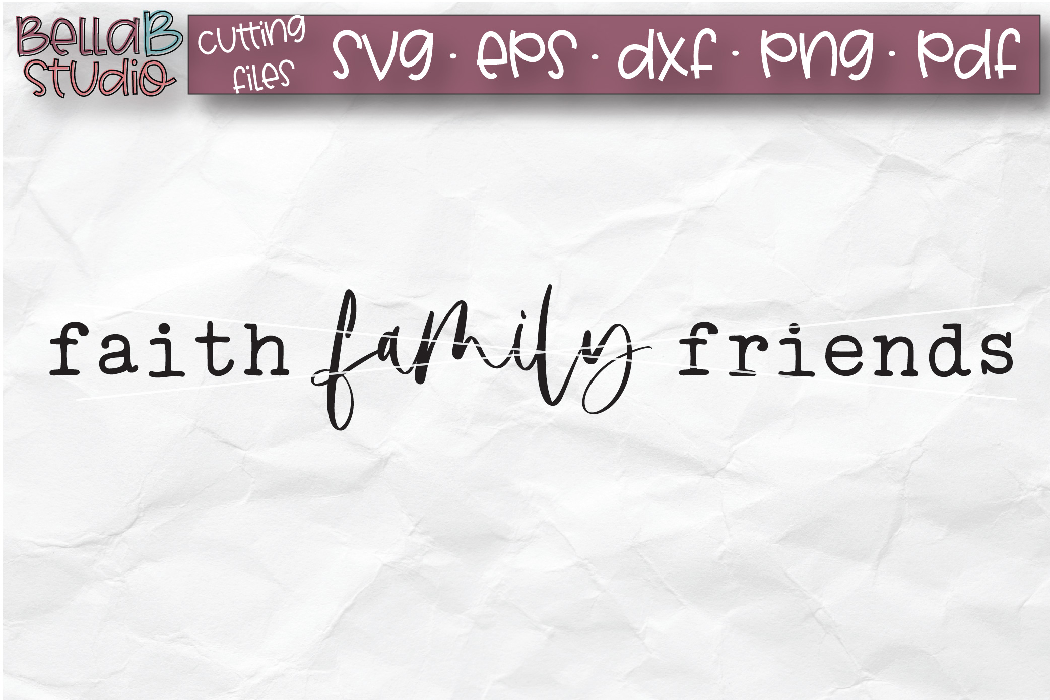 Faith Family Friends SVG, Christian SVG, Wood Sign SVG example image 2