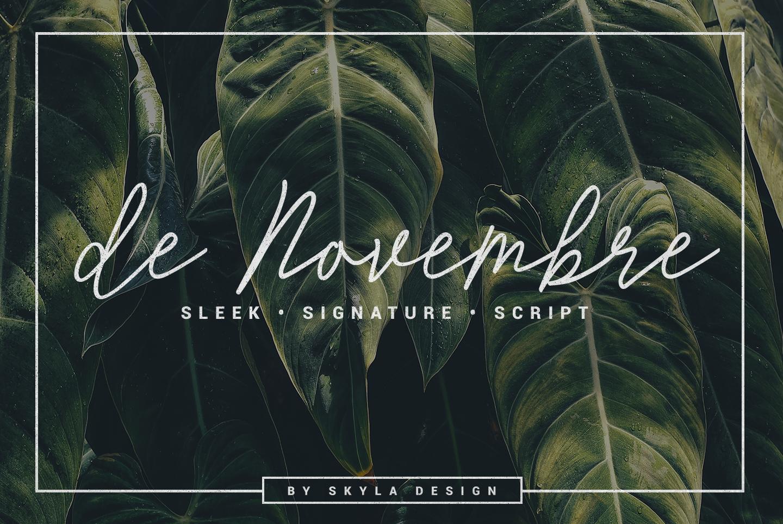 Monoline Signature script - de Novembre example image 1