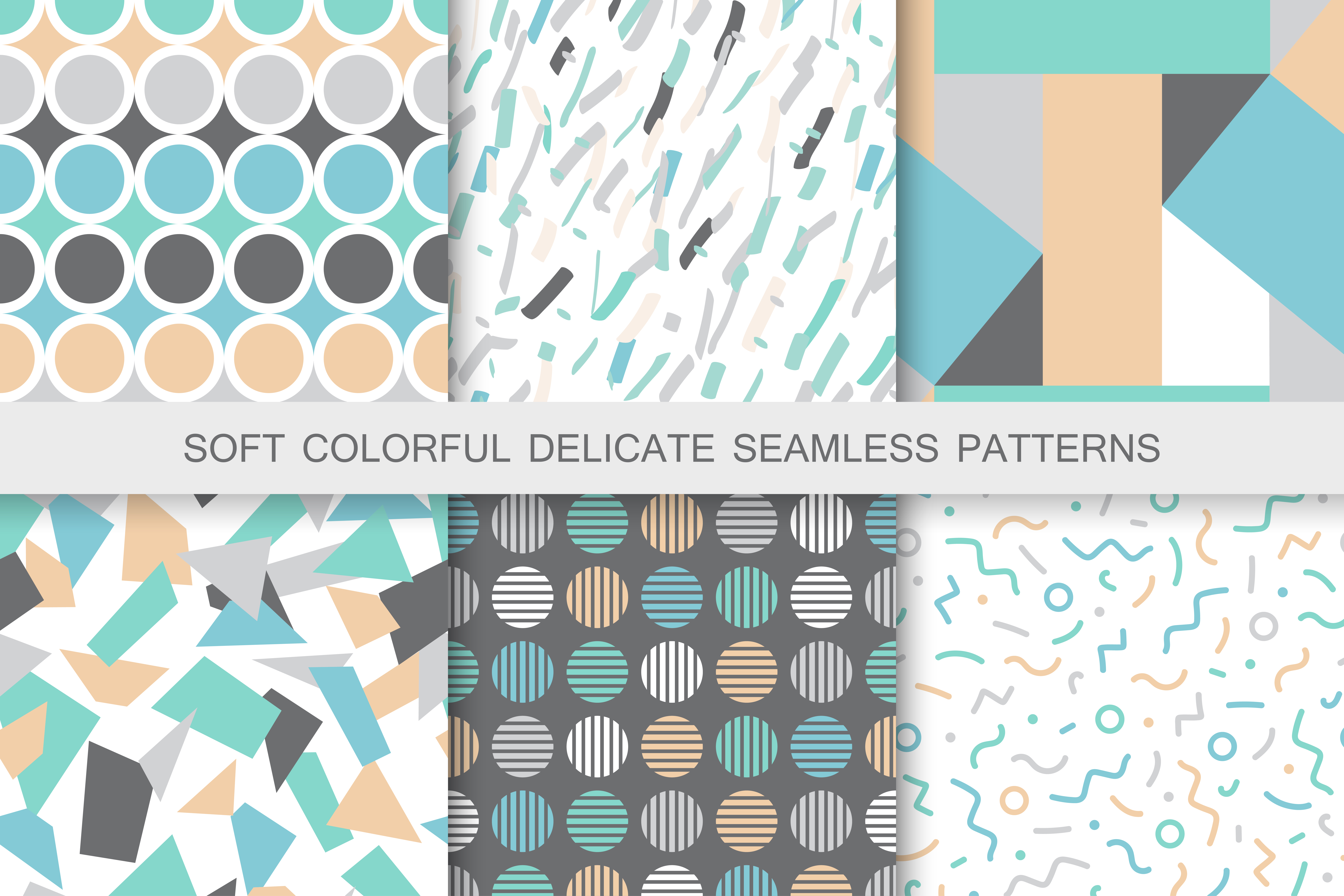 Seamless textures. Delicate colors example image 5