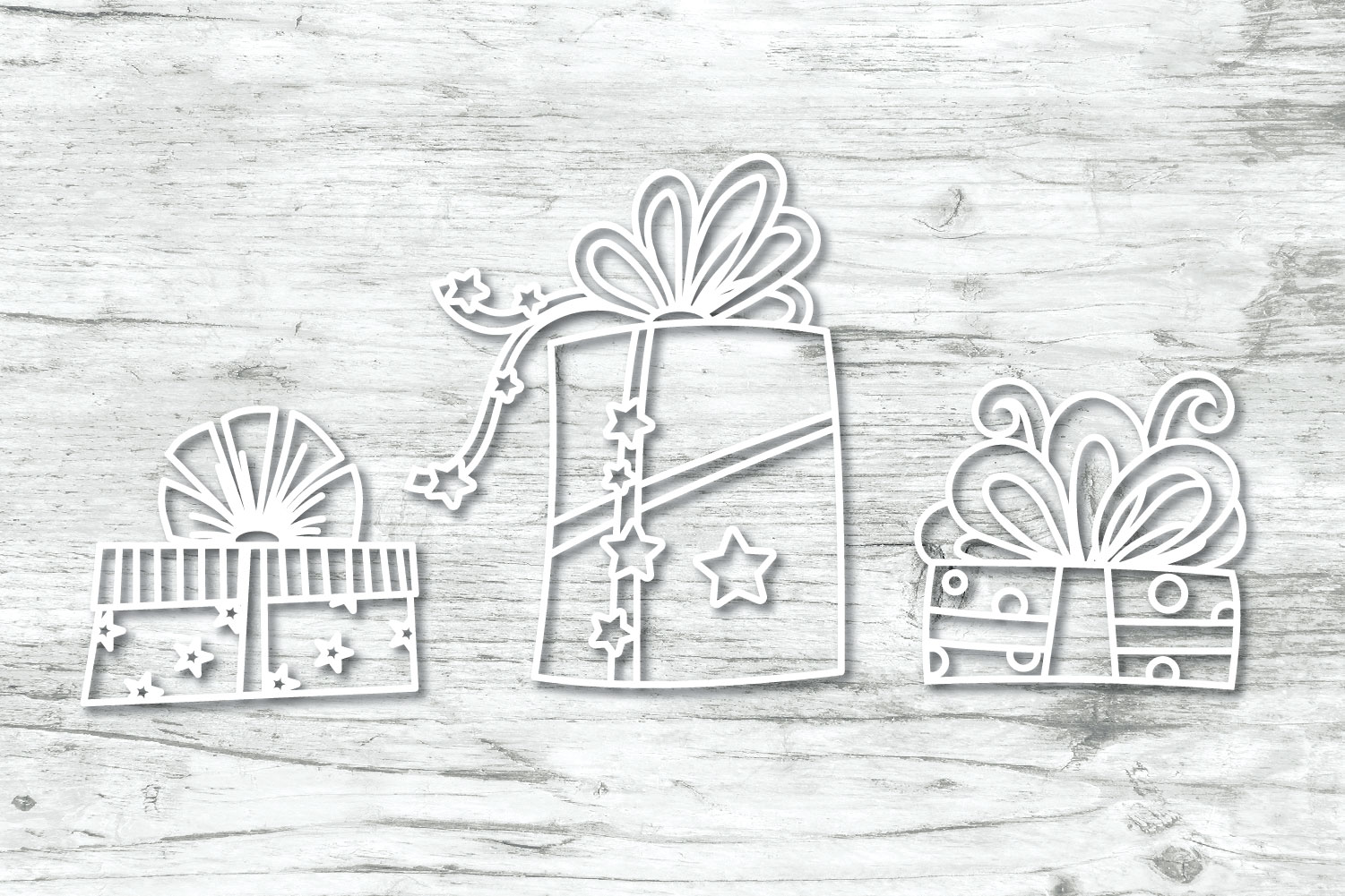 Christmas Gifts Doodles SVG example image 9