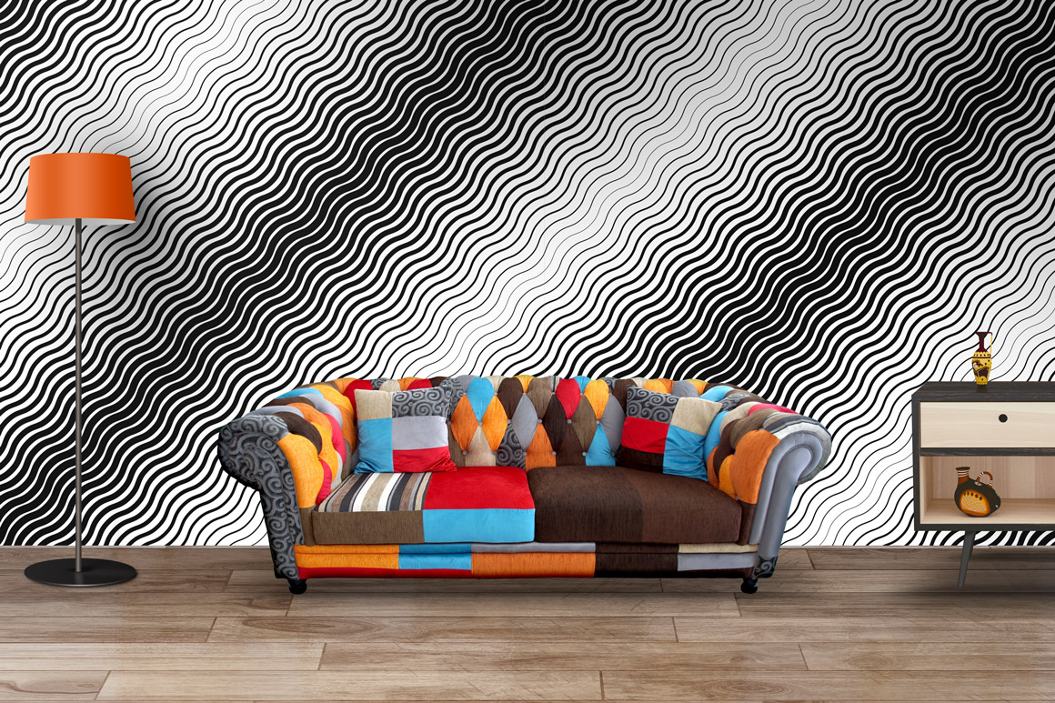 Striped halftone seamless patterns example image 5