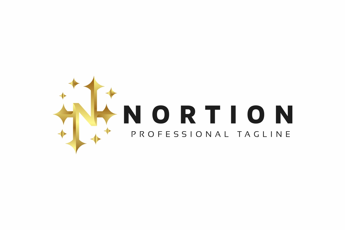 Nortion / N Letter Logo example image 3