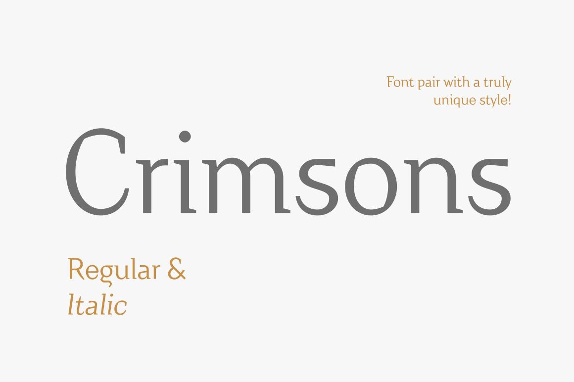 Crimsons — Regular & Italic example image 1