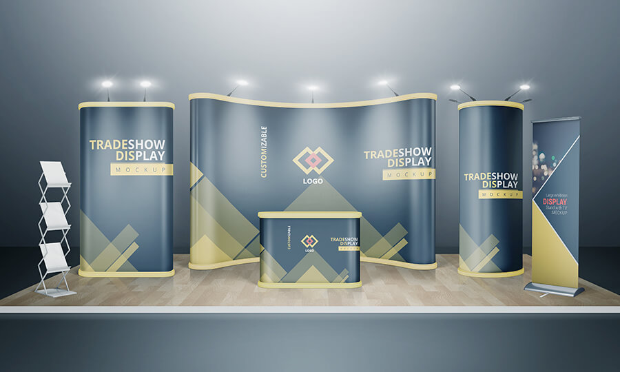 VARIOUS TRADESHOW EXHIBITION BOOTH MOCKUPS example image 3
