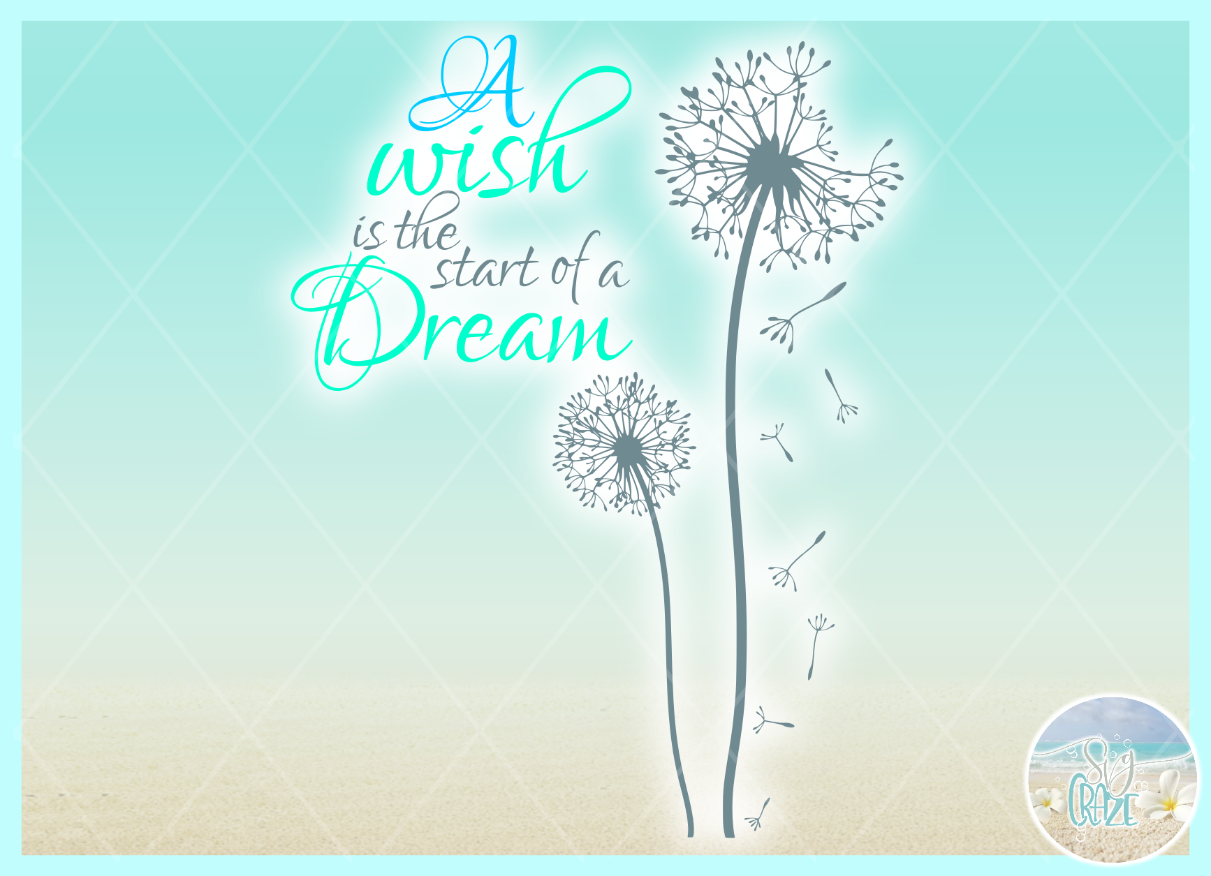 A Wish Is The Start Of A Dream Quote Dandelion SVG example image 2