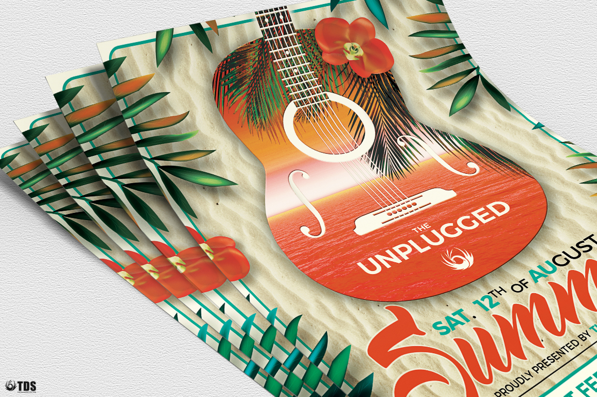 Summer Unplugged Flyer Template V2 example image 5