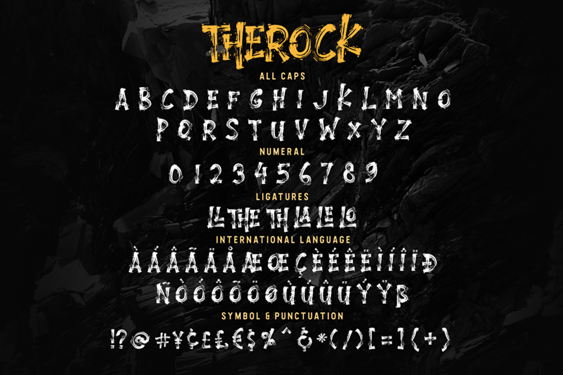 THEROCK - URBAN BRUSH FONT example image 9