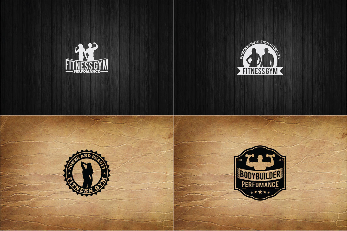 83 fitness gym bundle Logos Labels & Badges example image 16