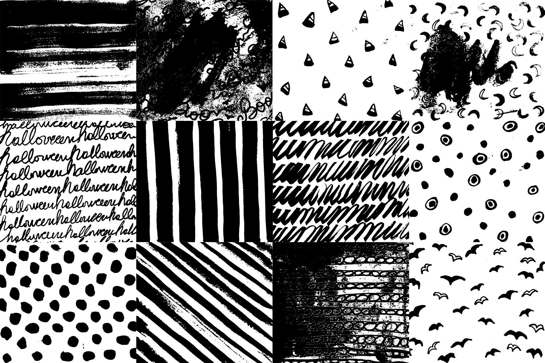 60 Black and White Patterns Bundle example image 6