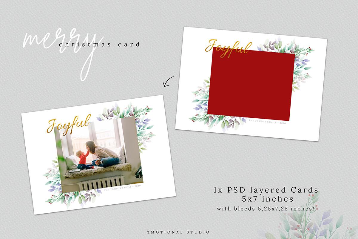 Christmas Postcard Editable Template 5x7 example image 3