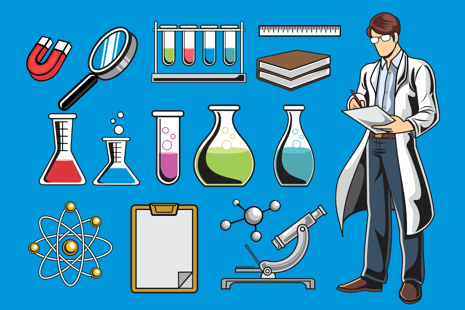 Scientist Vector Pack example image 1