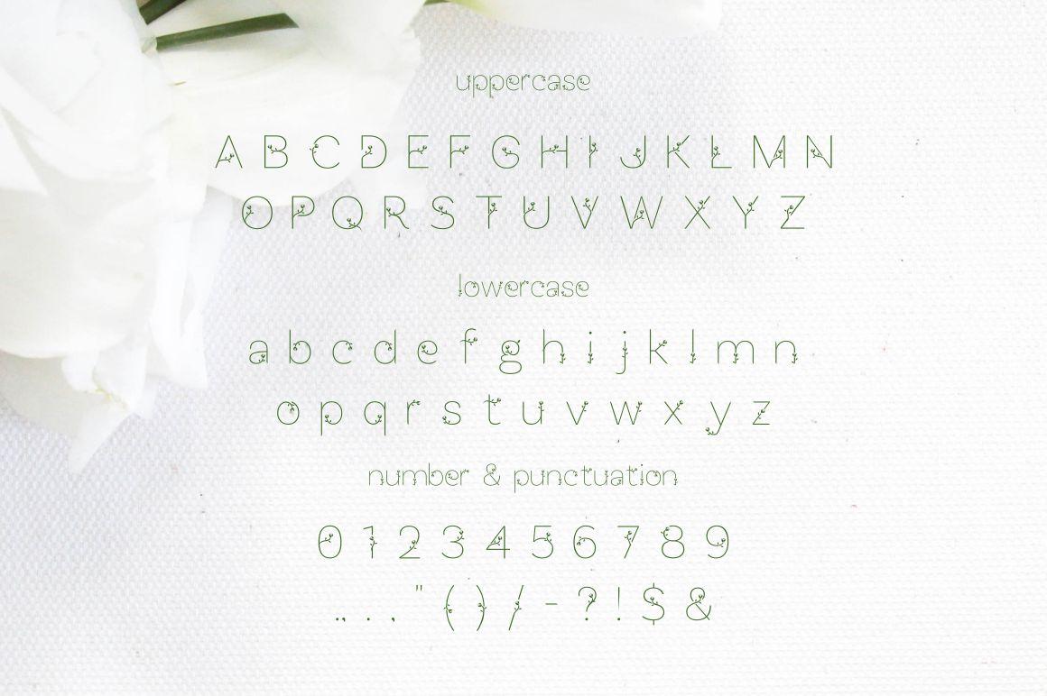 Bunga font example image 7