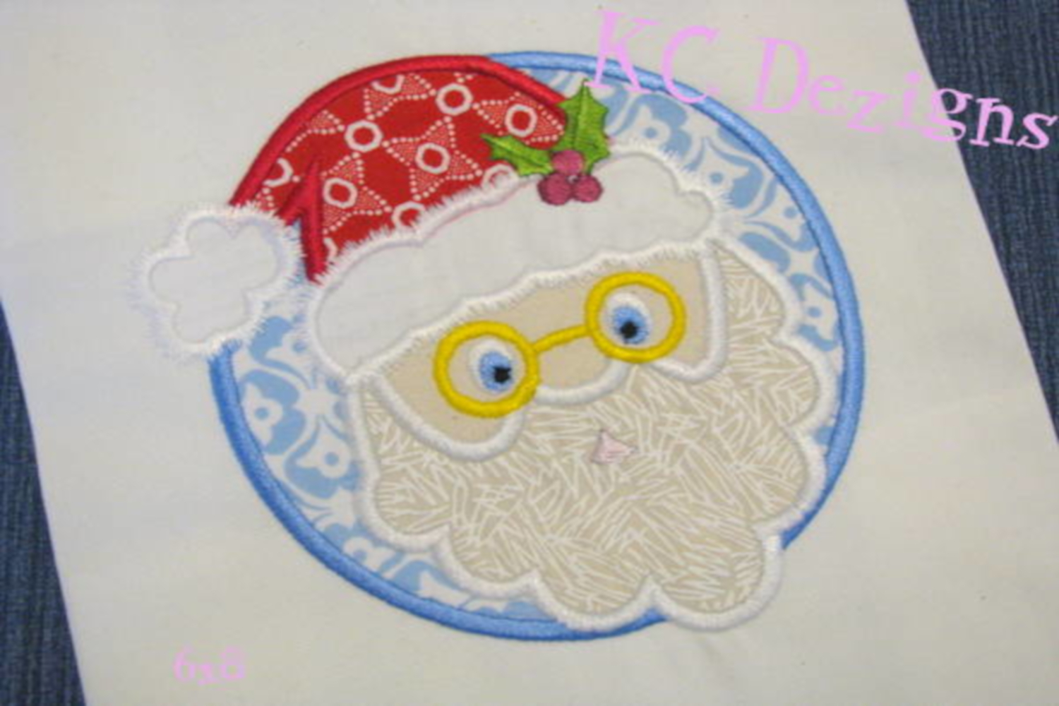 Santa Circle Machine Applique Embroidery Design example image 2