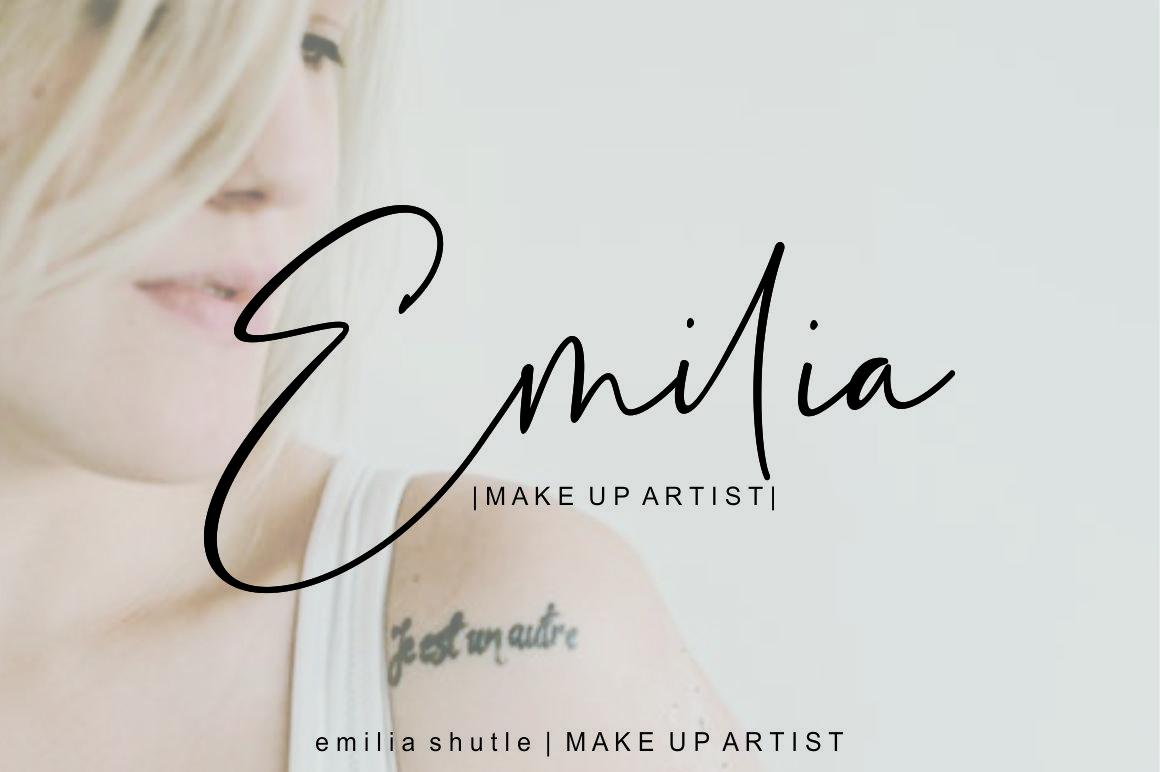 Estefin // handwritten font example image 7