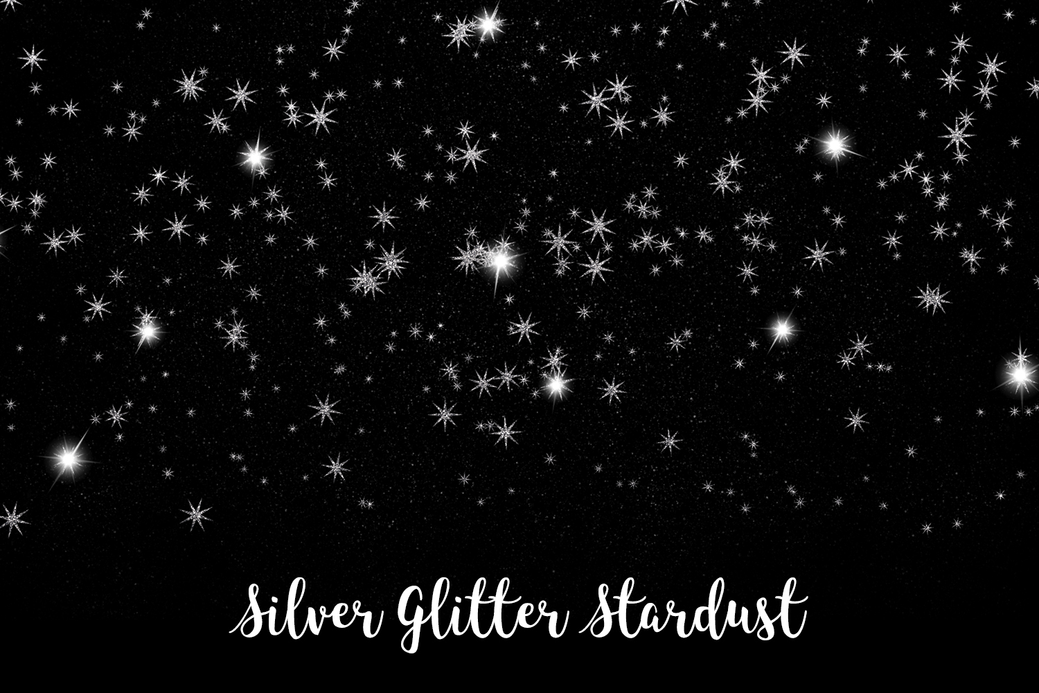Silver Glitter Stardust, Transparent PNG example image 7