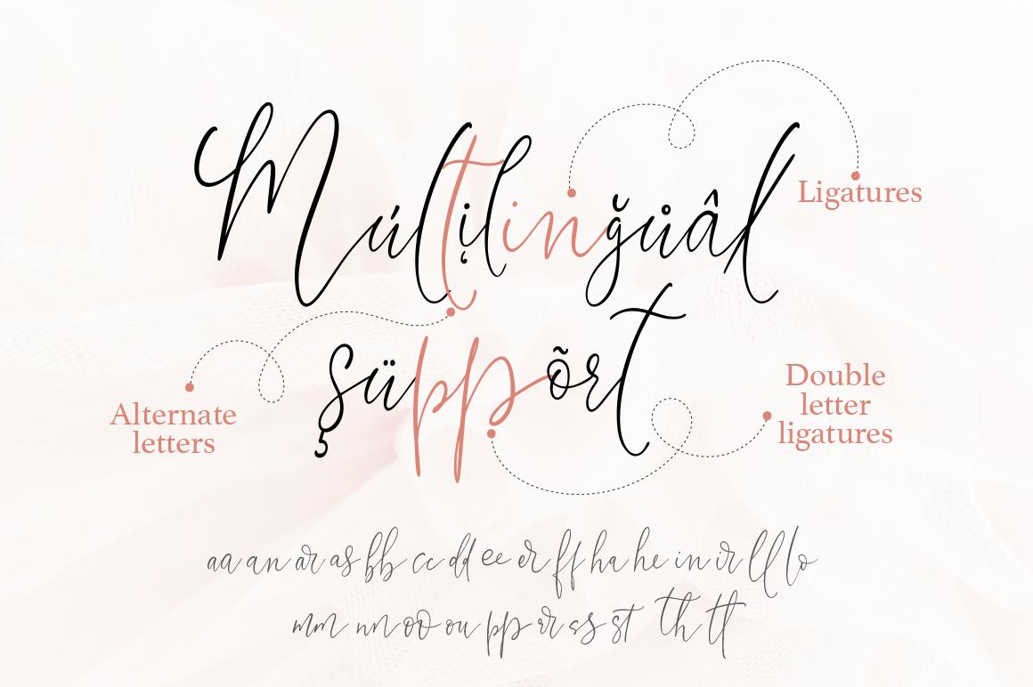 Little Girl. Gentle Script Font. example image 4