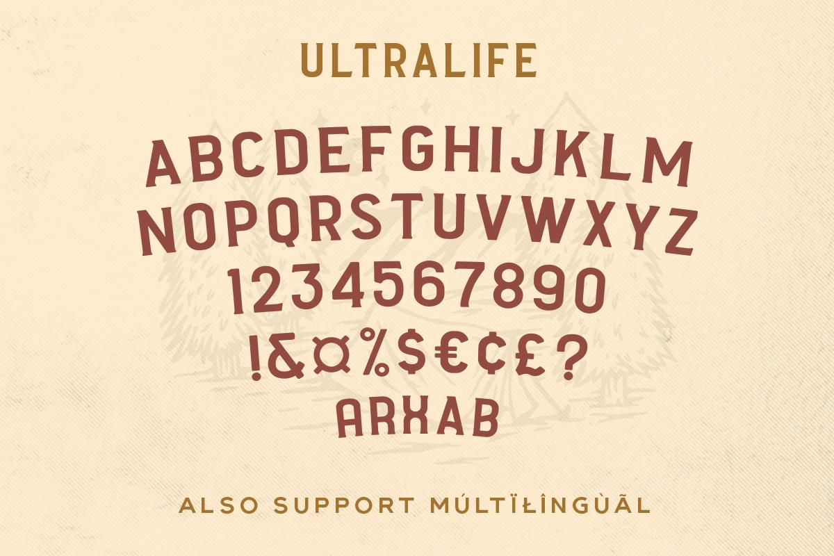 Ultralife Typeface example image 3