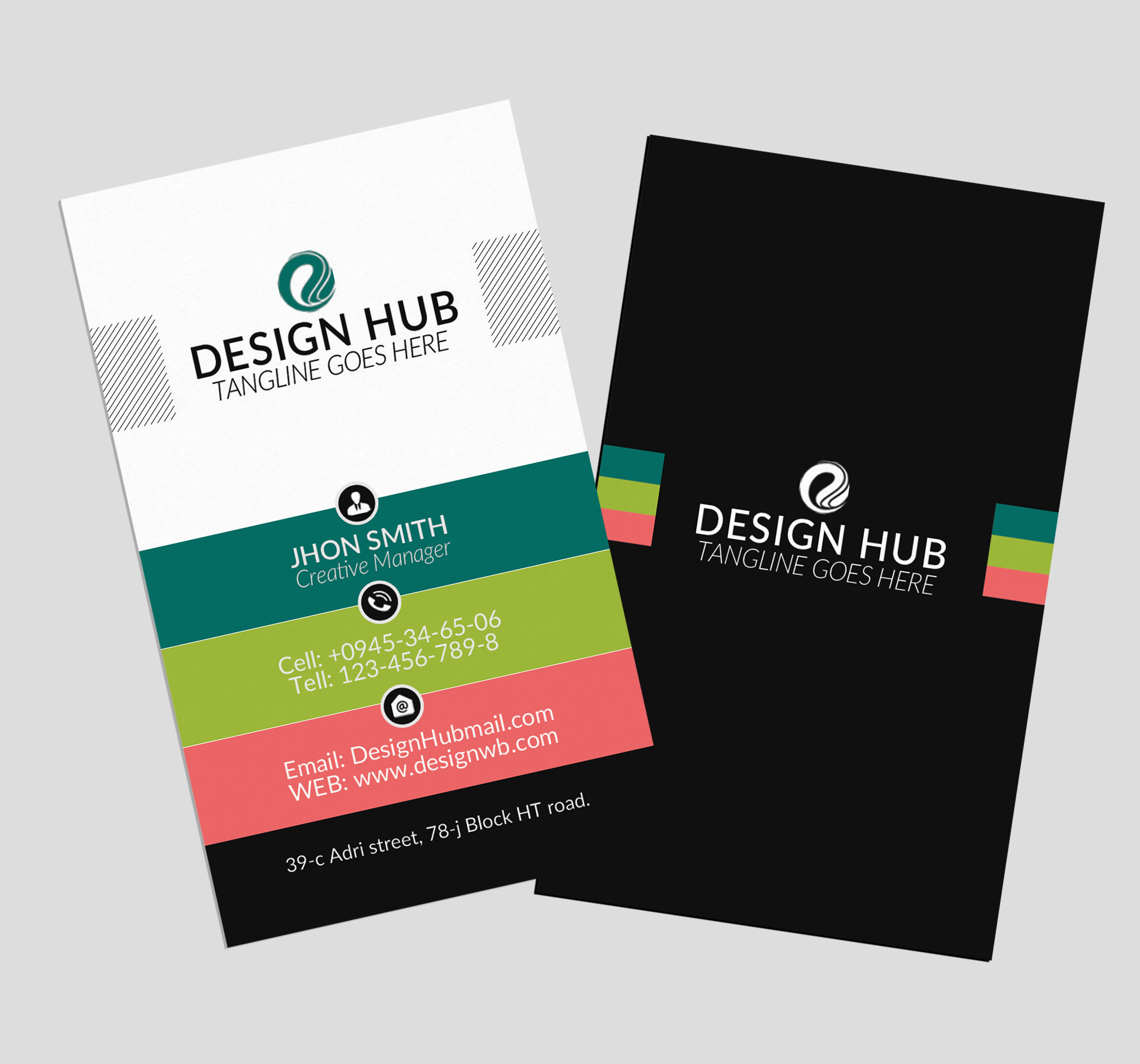 Vertical Business Visitig Cards example image 3
