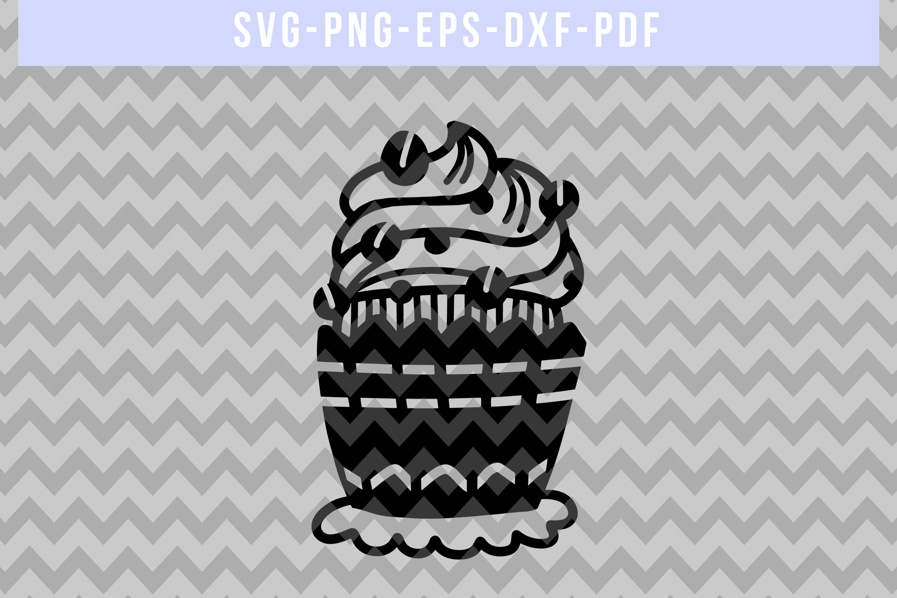 Coffee Cupcake Papercut Template, Birthday Cut File SVG, DXF example image 4