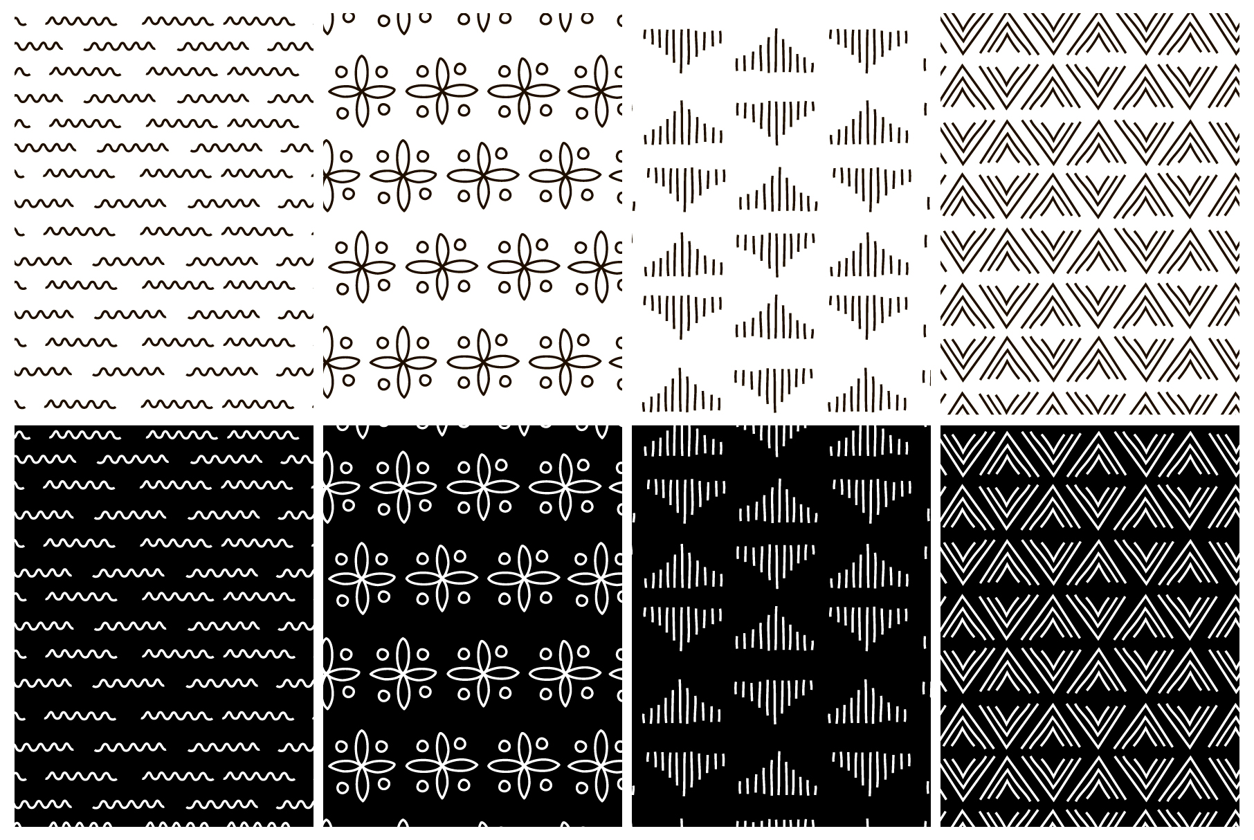 Simplicity. 32 seamless patterns example image 7
